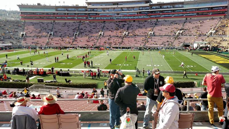 Seating view for Rose Bowl Section 6-L Row 34 Seat 6