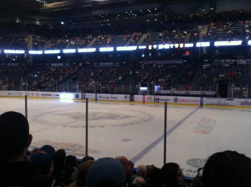 Seating view for Citizens Business Bank Arena Section 103 Row G Seat 11
