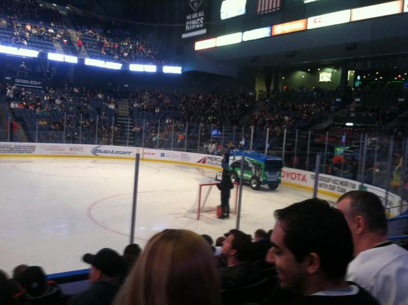Citizens Business Bank Arena, section: 103, row: G, seat: 11