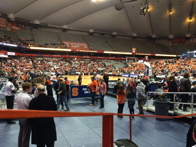 Seating view for Carrier Dome Section 105 Row B Seat 12