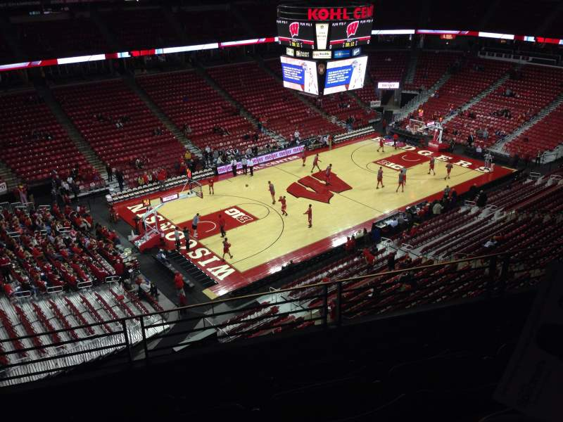 Seating view for Kohl Center Section 311 Row D Seat 6