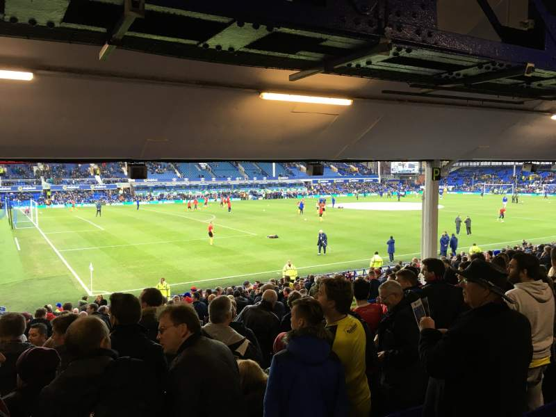 Seating view for Goodison Park Section Bullens Road Row N Seat 30