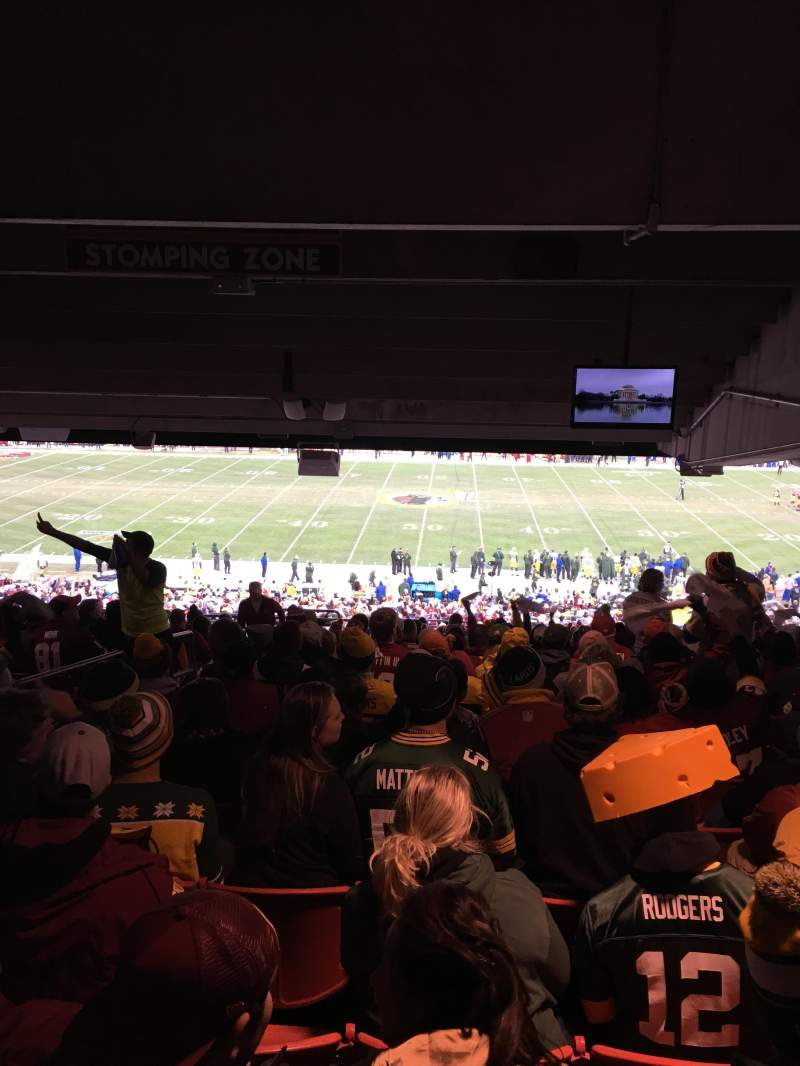 FedEx Field, section: 221, row: 23, seat: 21