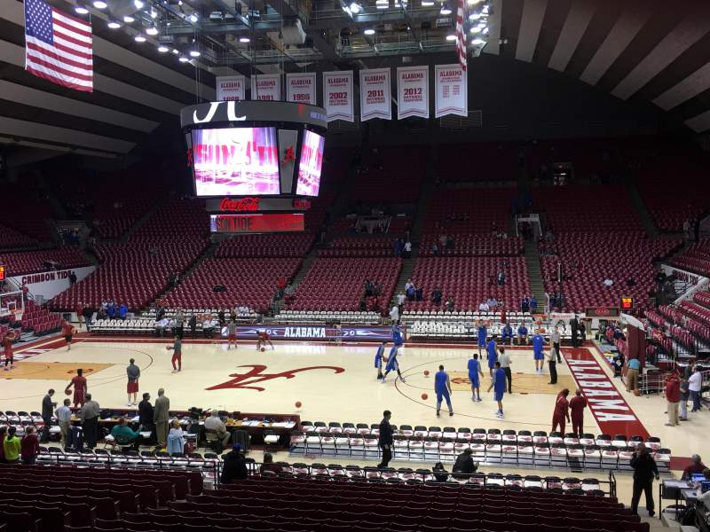 Seating view for Coleman Coliseum Section P Row 22 Seat 5