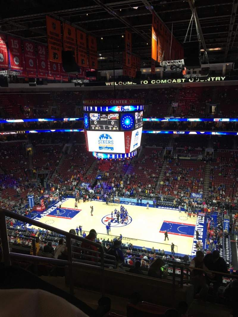 Seating view for Wells Fargo Center Section 215 Row 11 Seat 2