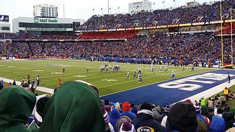 Seating view for New Era Field Section 106 Row 22 Seat 3