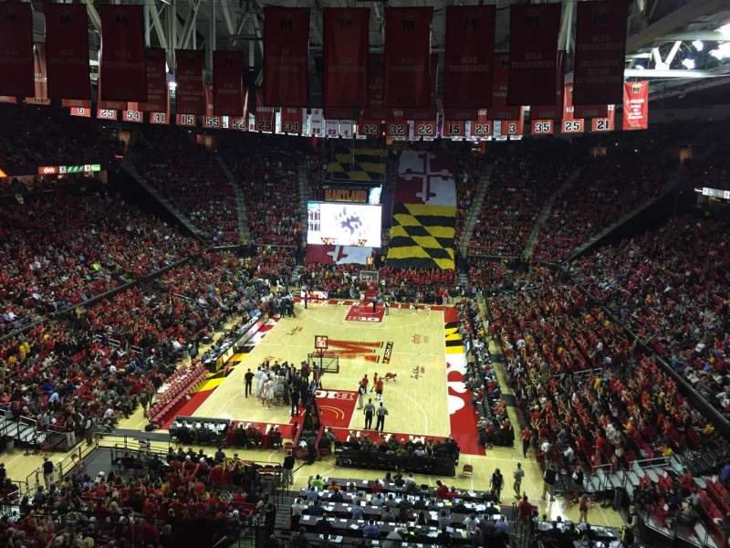 Seating view for Xfinity Center (Maryland) Section 208 Row 5 Seat 10