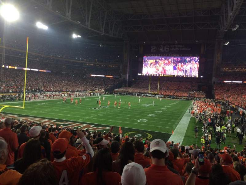 Seating view for University of Phoenix Stadium Section 116 Row 23 Seat 17