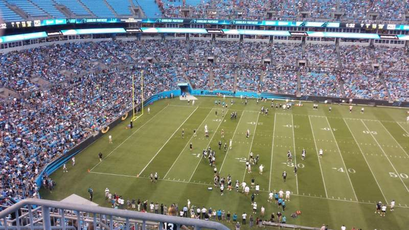 Seating view for Bank of America Stadium Section 543 Row 6 Seat 24