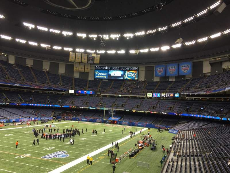 Seating view for Mercedes-Benz Superdome Section 319 Row 9 Seat 12