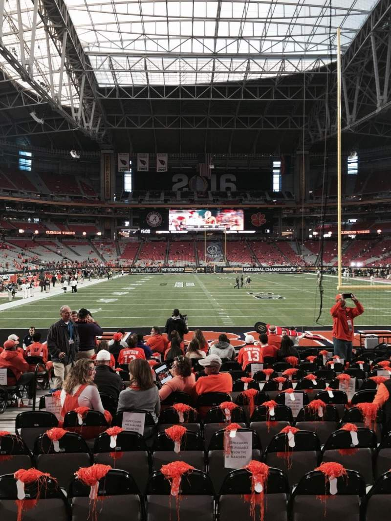 Seating view for University of Phoenix Stadium Section 142 Row 14 Seat 10