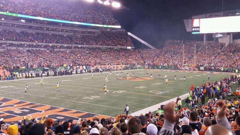 Seating view for Paul Brown Stadium Section 119 Row 21 Seat 13
