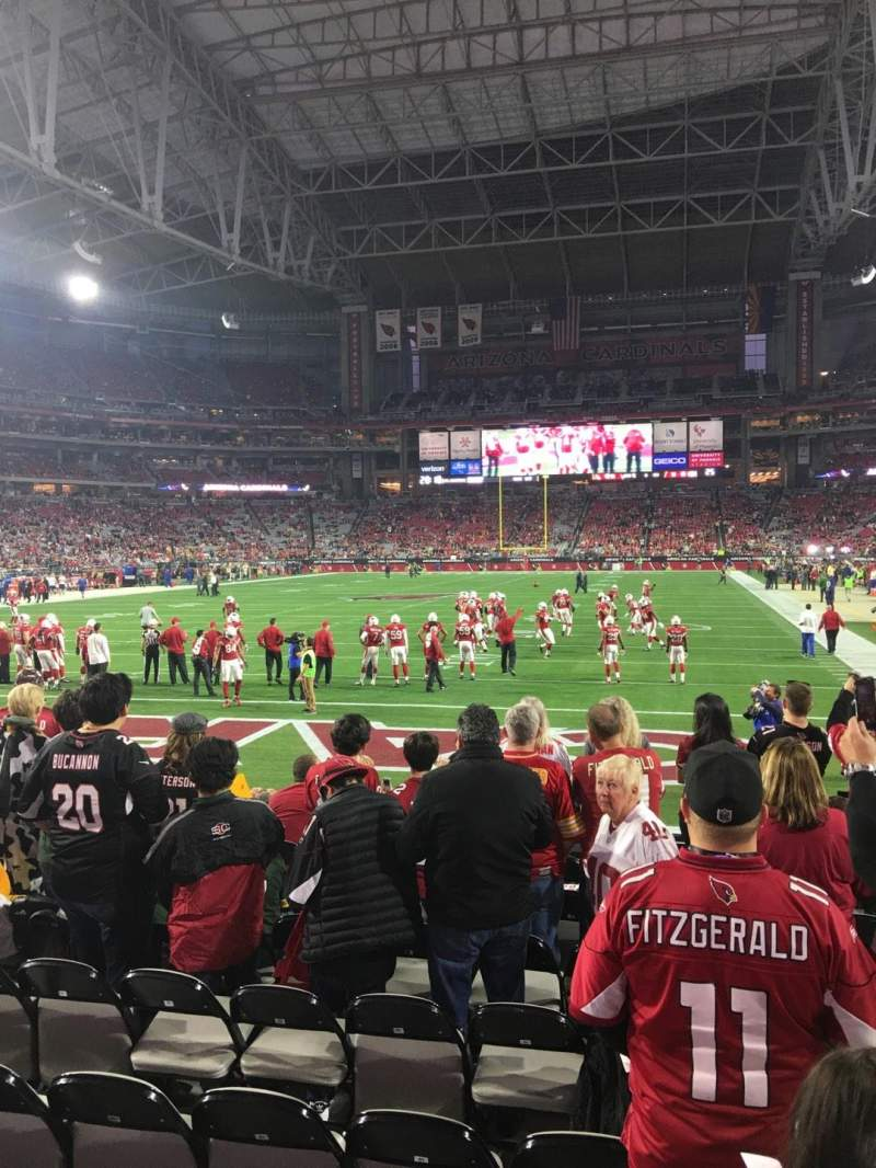 Seating view for University Of Phoenix Stadium Section 139 Row 9 Seat 3