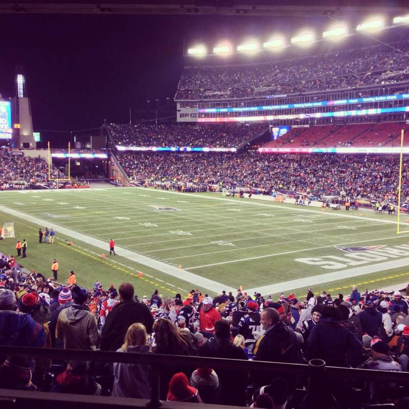 Seating view for Gillette Stadium Section 124 Row 35 Seat 11