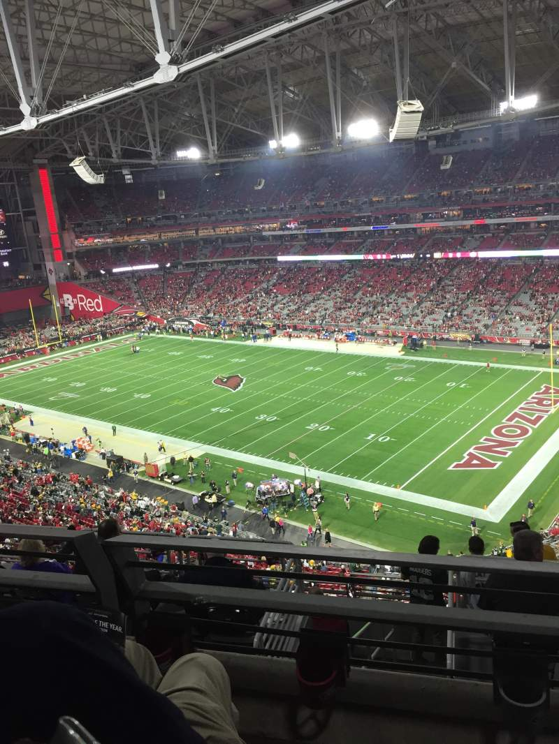Seating view for University of Phoenix Stadium Section 436 Row 2 Seat 10