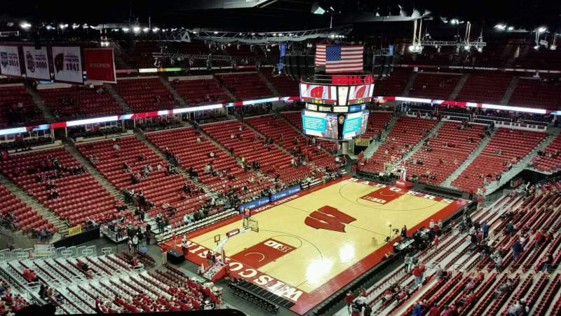 Seating view for Kohl Center Section 312 Row F Seat 12