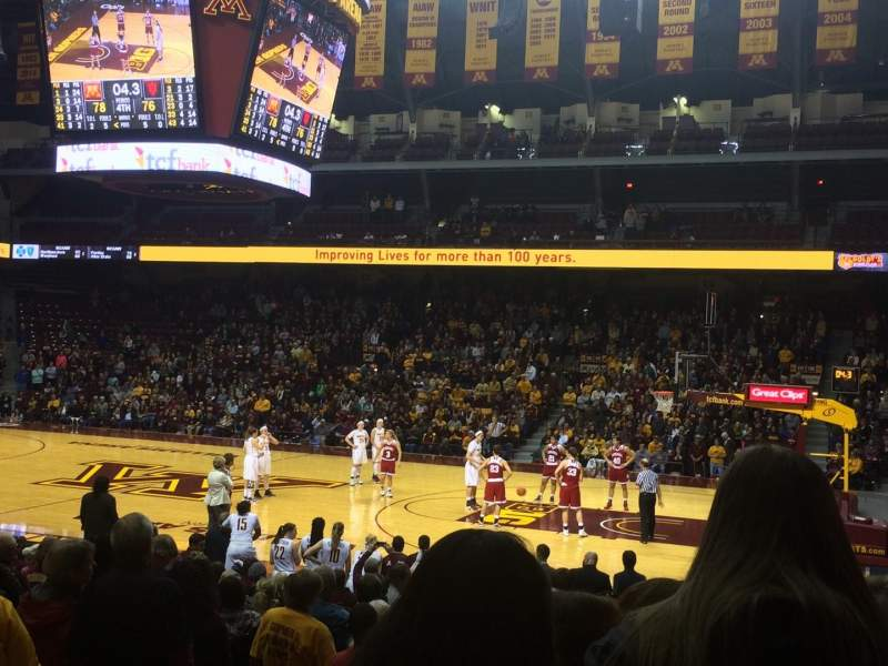 Seating view for Williams Arena Section 104 Row 17 Seat 11