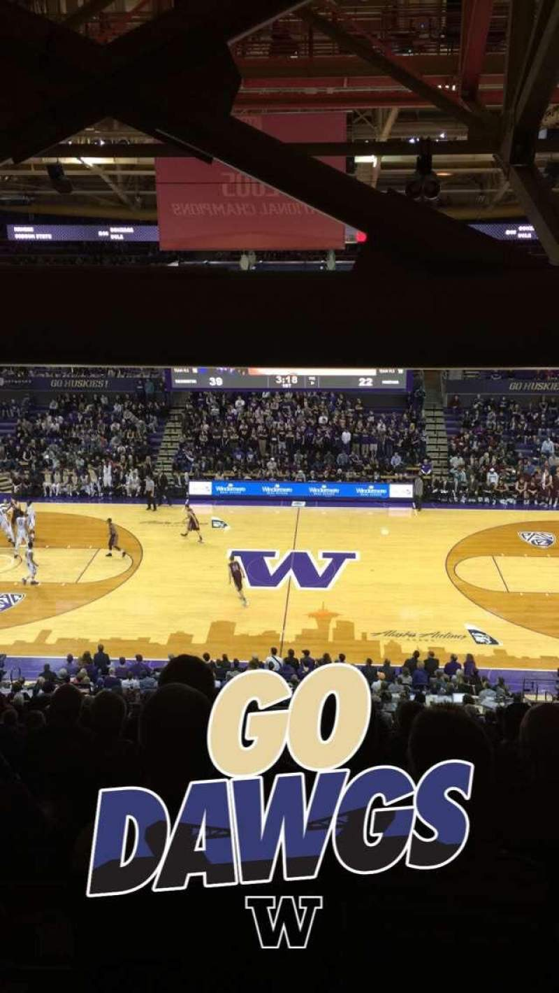 Seating view for Alaska Airlines Arena at Hec Edmundson Pavilion Section 8 Row 30 Seat 15
