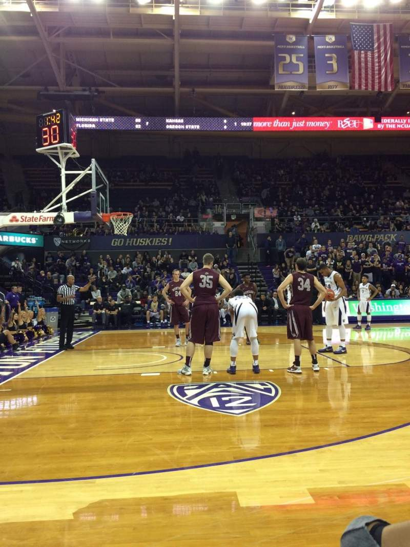 Seating view for Alaska Airlines Arena at Hec Edmundson Pavilion Section 2 Row 2 Seat 1
