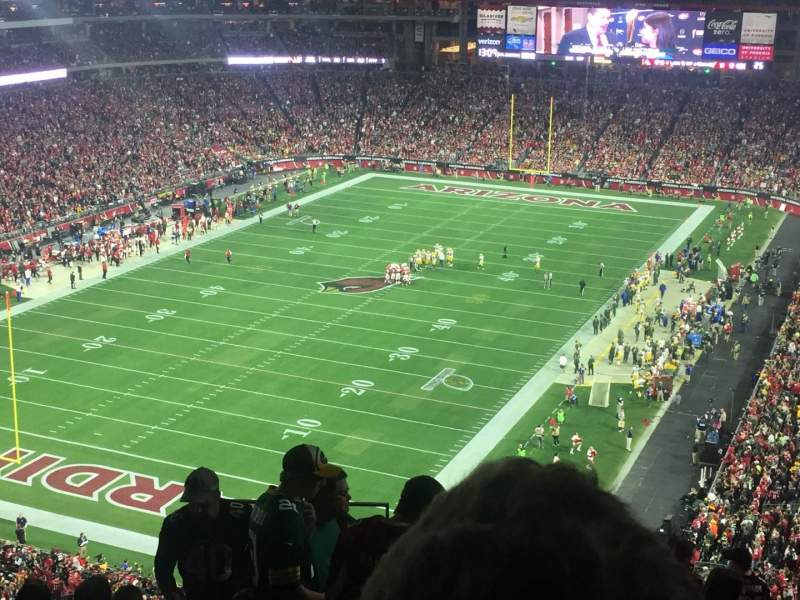 Seating view for University of Phoenix Stadium Section 454 Row 9 Seat 22