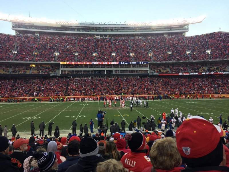 Seating view for Arrowhead Stadium Section 101 Row 20 Seat 24