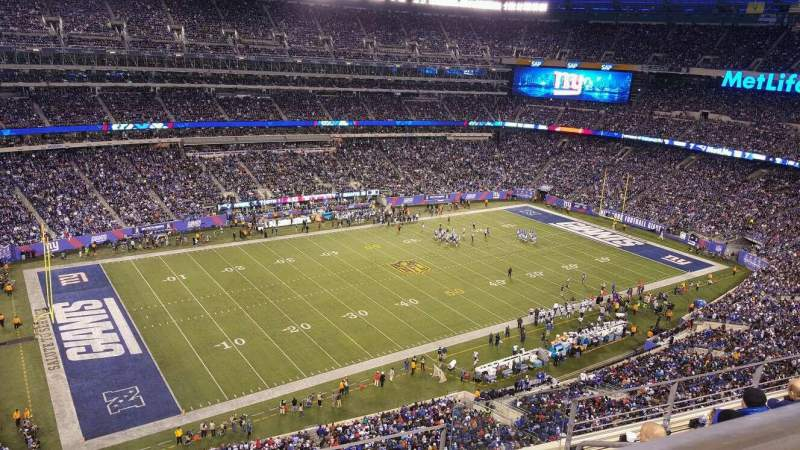 Seating view for MetLife Stadium Section 343 Row 5