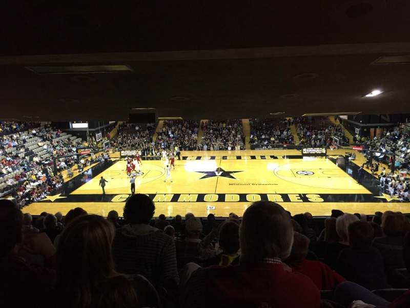 Seating view for Memorial Gymnasium (Vanderbilt) Section 2C Row 14 Seat 3