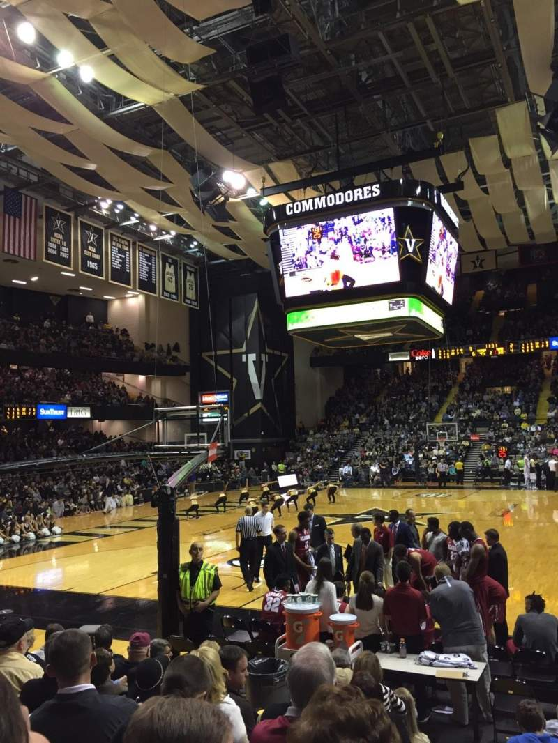 Seating view for Memorial Gymnasium (Vanderbilt) Section 1F Row 8