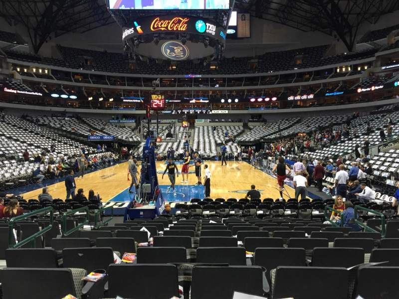 Seating view for American Airlines Center Section 124 Row A Seat 10