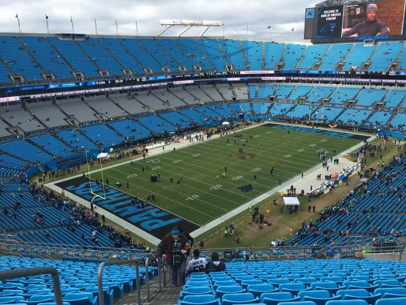 Seating view for Bank of America Stadium Section 522 Row 17 Seat 21