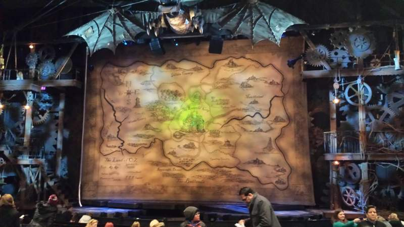 Seating view for Gershwin Theatre Section Orchestra C Row m Seat 114