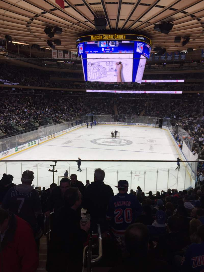 Seating view for Madison Square Garden Section 103WC Row 20 Seat 3