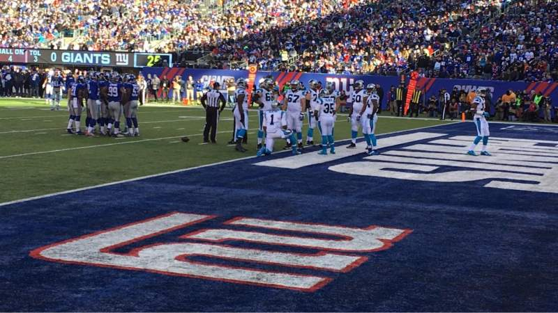 Seating view for MetLife Stadium Section 133 Row 1 Seat 4