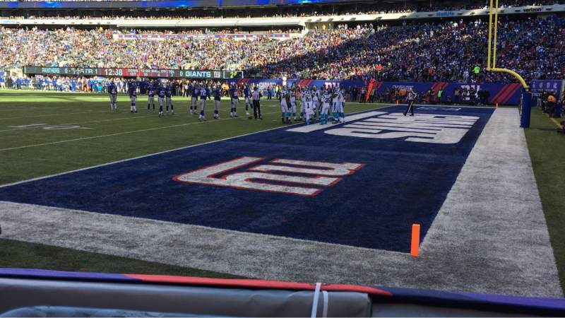 Seating view for MetLife Stadium Section 133 Row 1 Seat 5