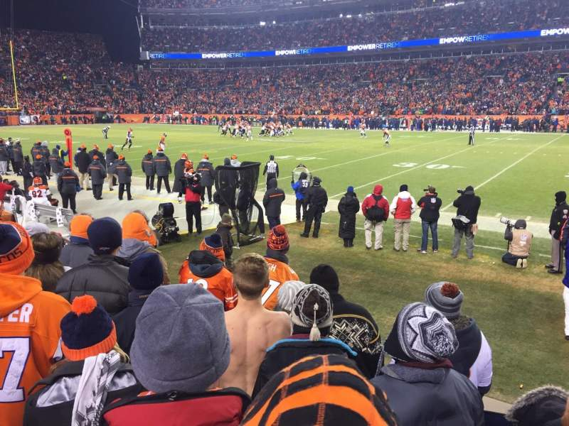 Invesco Field at Mile High, section: 121, row: 5, seat: 6