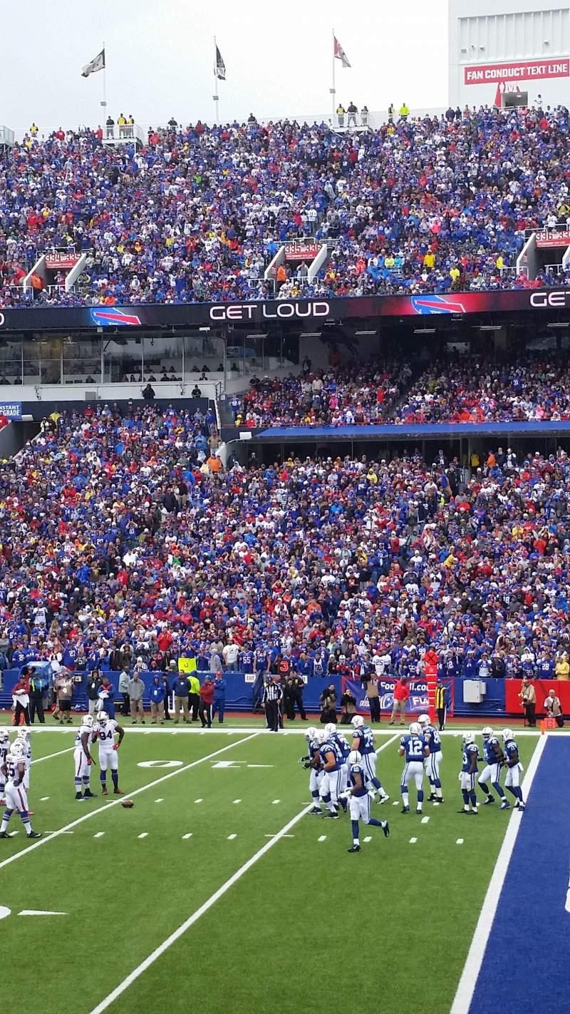 New Era Field, section: 108, row: 20, seat: 6