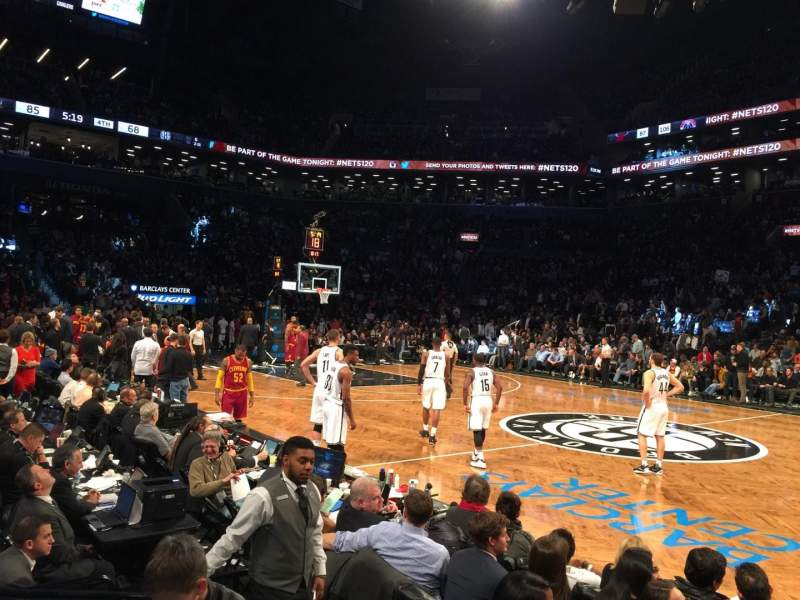 Seating view for Barclays Center Section 7 Row 01 Seat 13