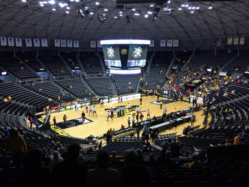 Seating view for Charles Koch Arena Section 123 Row 33 Seat 21
