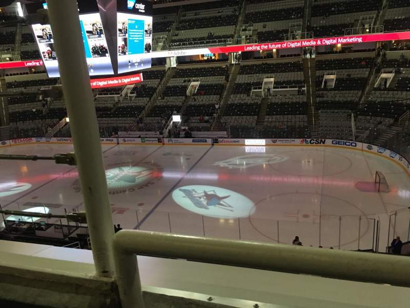 Seating view for SAP Center at San Jose Section 213 Row 1 Seat 17