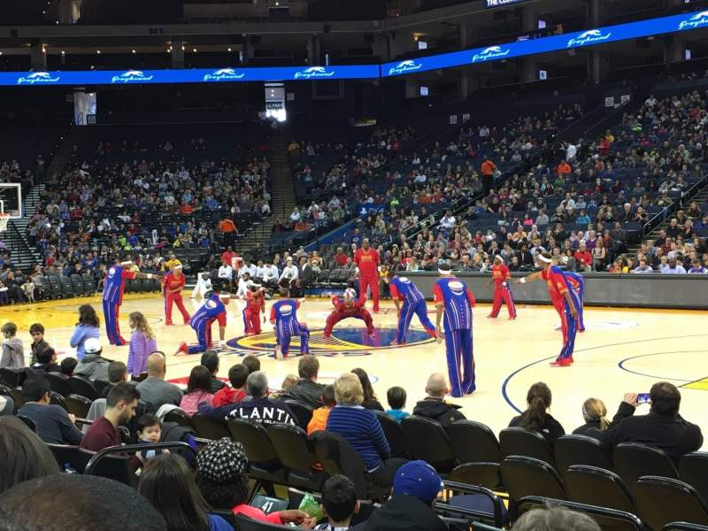 Seating view for Oracle Arena Section 113 Row 1 Seat 7