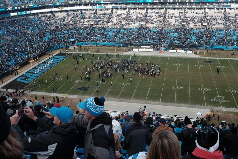 Seating view for Bank of America Stadium Section 541 Row 18 Seat 12