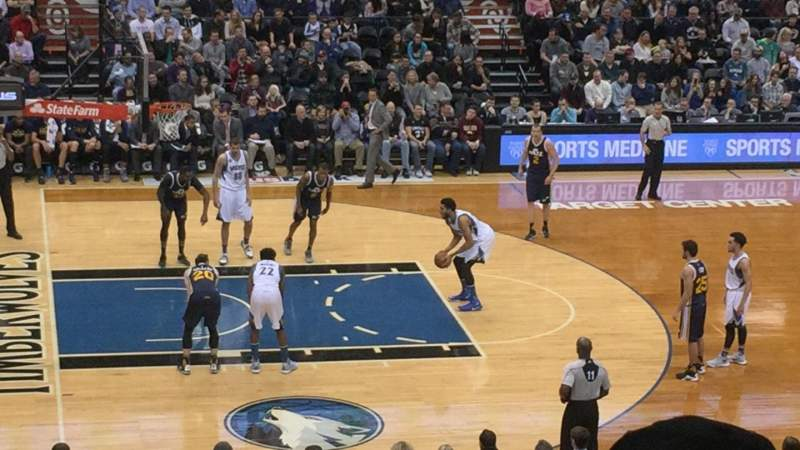 Seating view for Target Center Section 113 Row U Seat 1,2