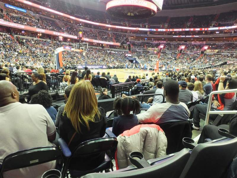 Seating view for Capital One Arena Section 108 Row E Seat 7