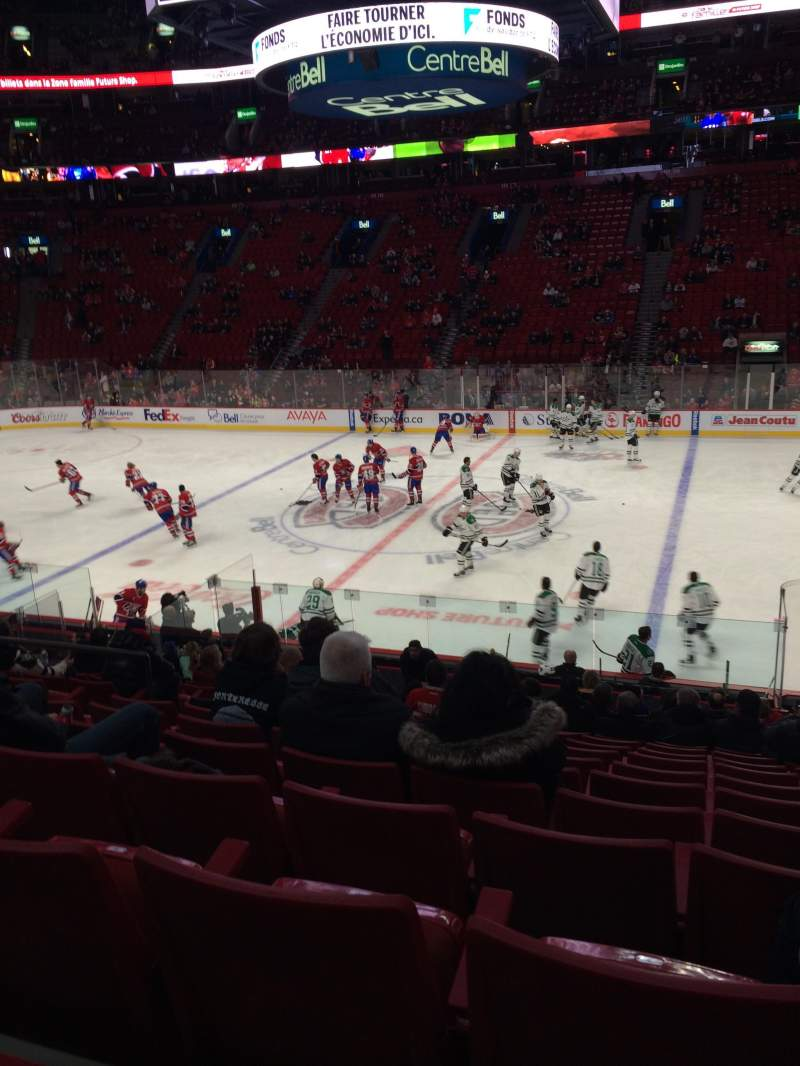 Seating view for Centre Bell Section 124 Row M Seat 9