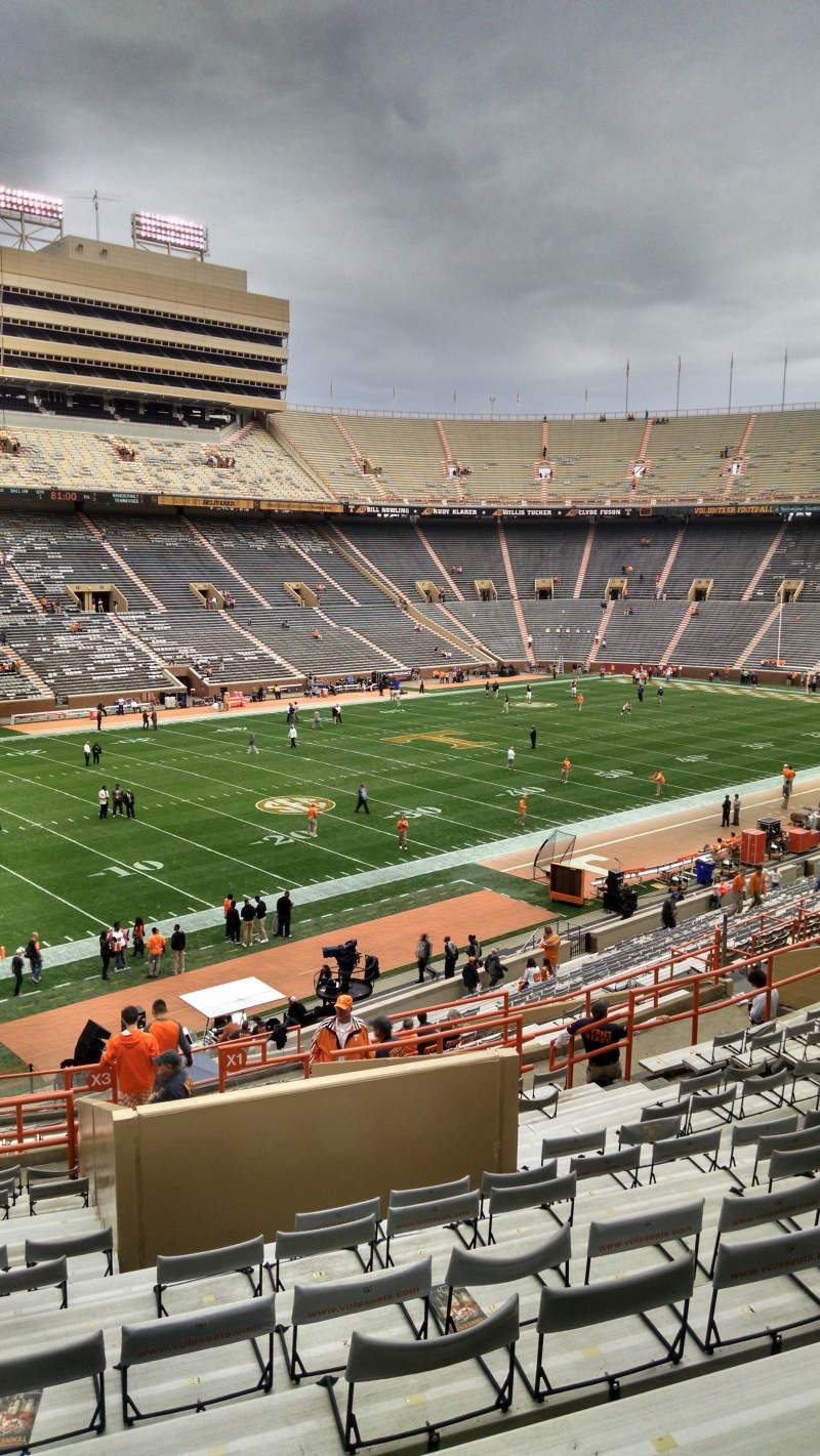 Seating view for Neyland Stadium Section x2 Row 31