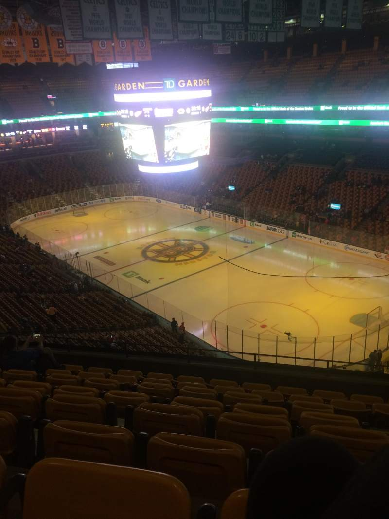 Seating view for TD Garden Section Bal 312 Row 8 Seat 4 and 5