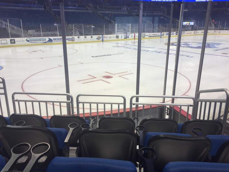Seating view for Amway Center Section 117 Row 9 Seat 10