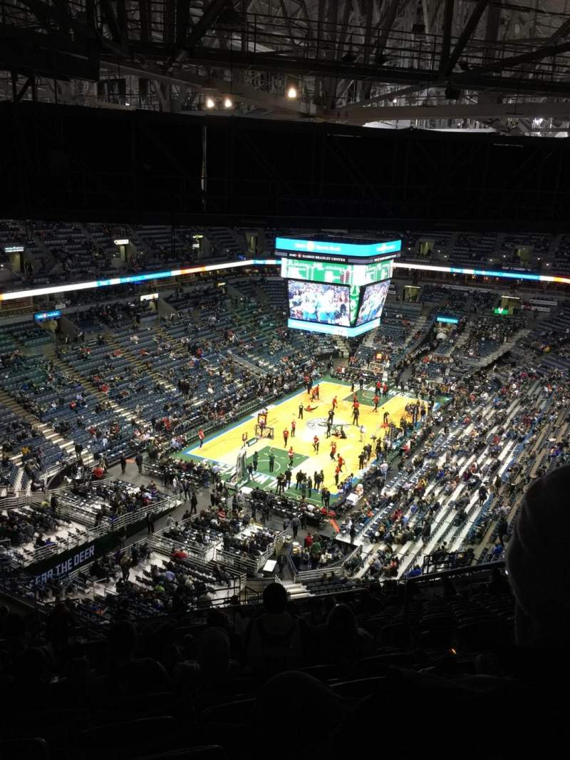 Seating view for BMO Harris Bradley Center Section 408 Row W Seat 4