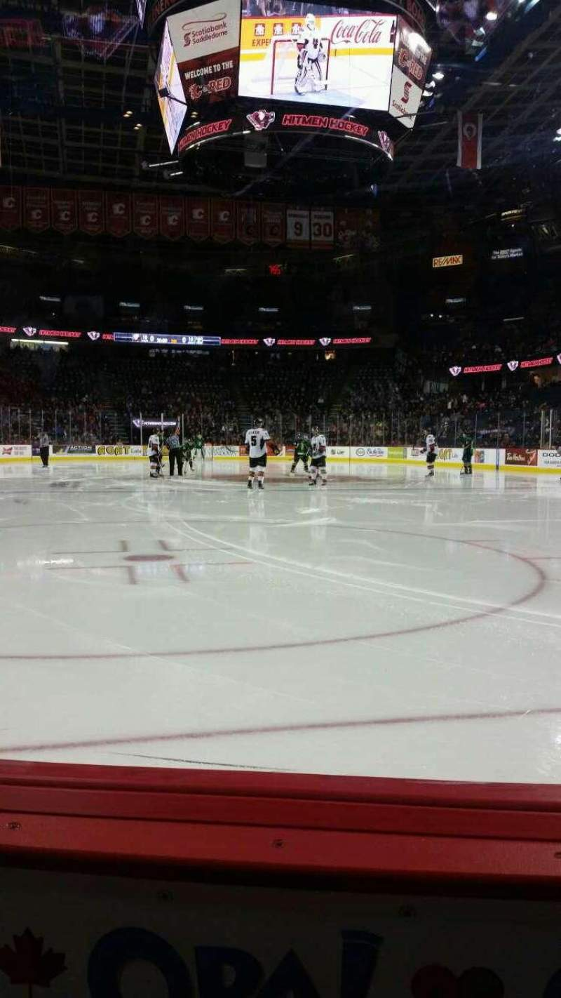 Seating view for Scotiabank Saddledome Section 113 Row 1 Seat 10