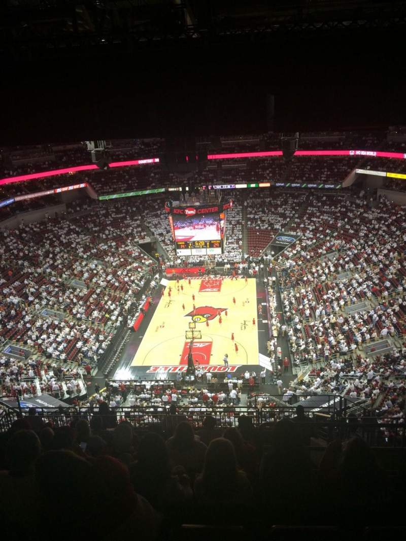Seating view for KFC Yum! Center Section 329 Row R  Seat 4